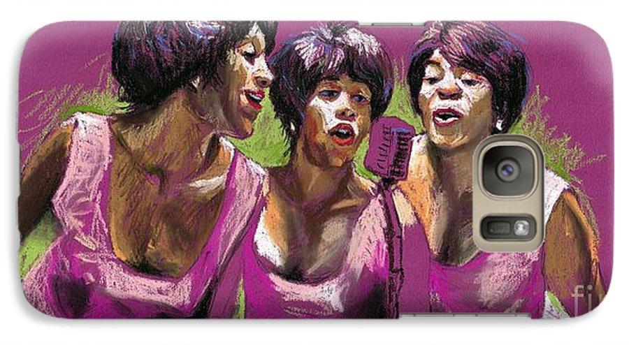 Jazz Galaxy S7 Case featuring the painting Jazz Trio by Yuriy Shevchuk