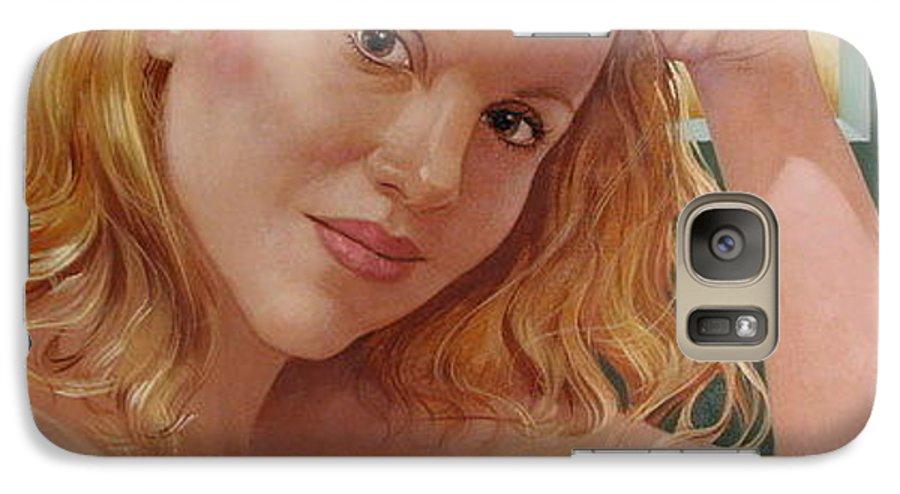 Portrait Galaxy S7 Case featuring the painting Jenn Cornelius by Jerrold Carton