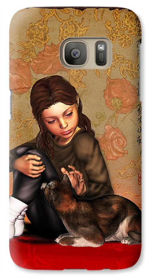 Child Galaxy S7 Case featuring the digital art Jesus To A Child I by Nik Helbig