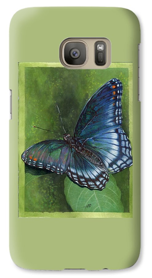Insects Galaxy S7 Case featuring the mixed media Jewel Tones by Barbara Keith