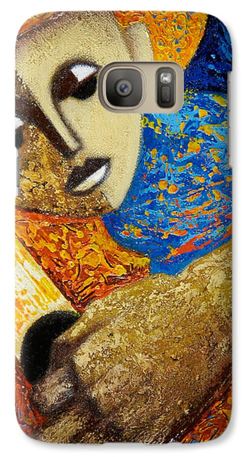 Color Galaxy S7 Case featuring the painting Jibaro Y Sol by Oscar Ortiz