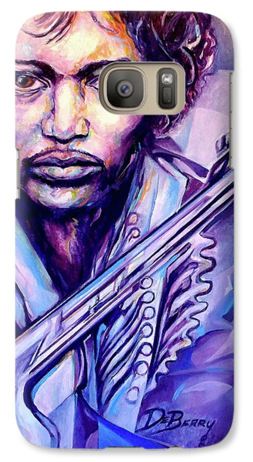 Galaxy S7 Case featuring the painting Jimi by Lloyd DeBerry
