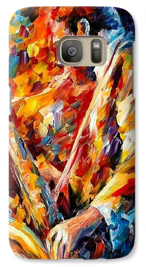 Music Galaxy S7 Case featuring the painting John Coltrane by Leonid Afremov