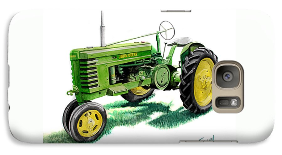 John Deere Tractor Galaxy S7 Case featuring the painting John Deere Tractor by Ferrel Cordle