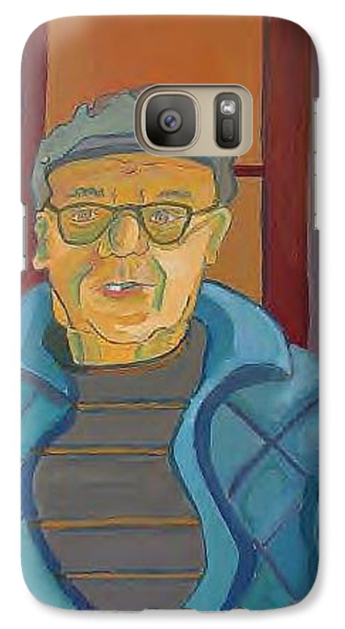Portrait Galaxy S7 Case featuring the painting John Paris by Debra Bretton Robinson