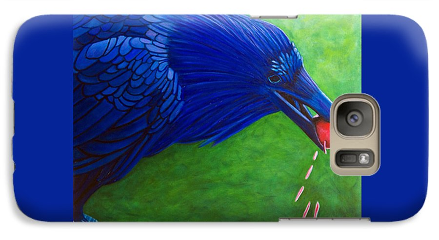 Raven Galaxy S7 Case featuring the painting Joie De Vivre by Brian Commerford