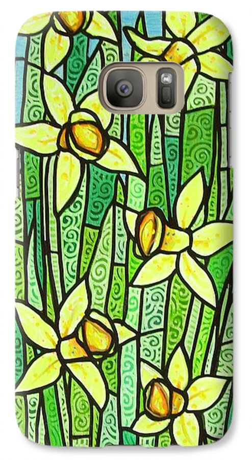 Jonquils Galaxy S7 Case featuring the painting Jonquil Glory by Jim Harris