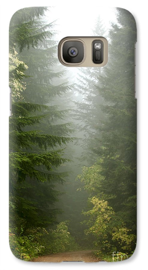 Forest Galaxy S7 Case featuring the photograph Journey Through The Fog by Idaho Scenic Images Linda Lantzy
