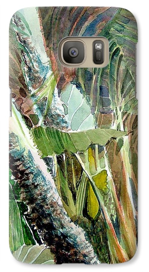 Palm Tree Galaxy S7 Case featuring the painting Jungle Light by Mindy Newman