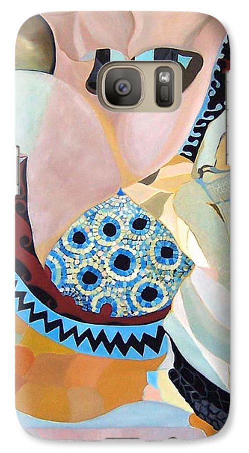 Figyrative Galaxy S7 Case featuring the painting Jurney by Antoaneta Melnikova- Hillman
