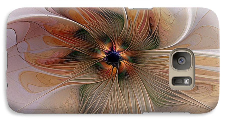 Digital Art Galaxy S7 Case featuring the digital art Just Peachy by Amanda Moore