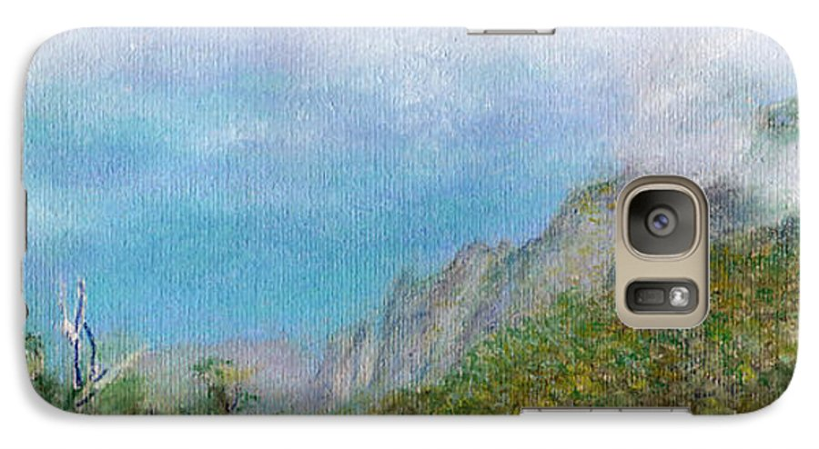 Rainbow Colors Pastel Galaxy S7 Case featuring the painting Kalalau Mist by Kenneth Grzesik