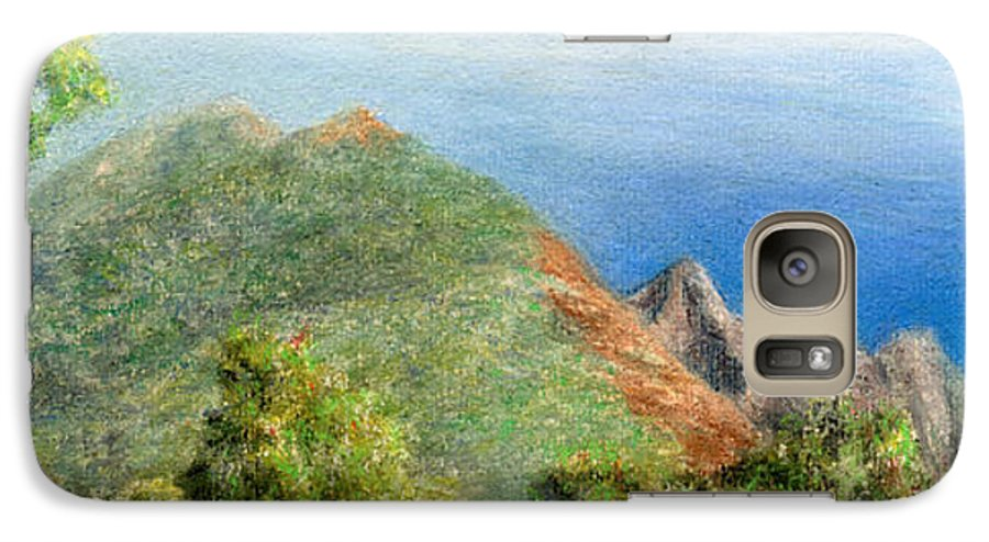 Rainbow Colors Pastel Galaxy S7 Case featuring the painting Kalalau View by Kenneth Grzesik