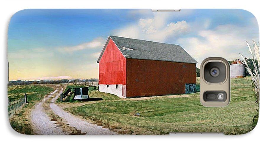 Barn Galaxy S7 Case featuring the photograph Kansas Landscape II by Steve Karol