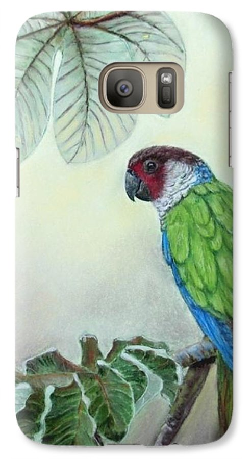 Wildlife Galaxy S7 Case featuring the painting Kasanga Bajo El Guarumo by Ceci Watson