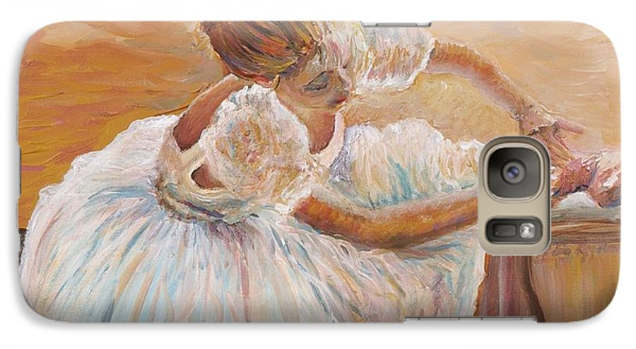 Dancer Galaxy S7 Case featuring the painting Kaylea by Nadine Rippelmeyer
