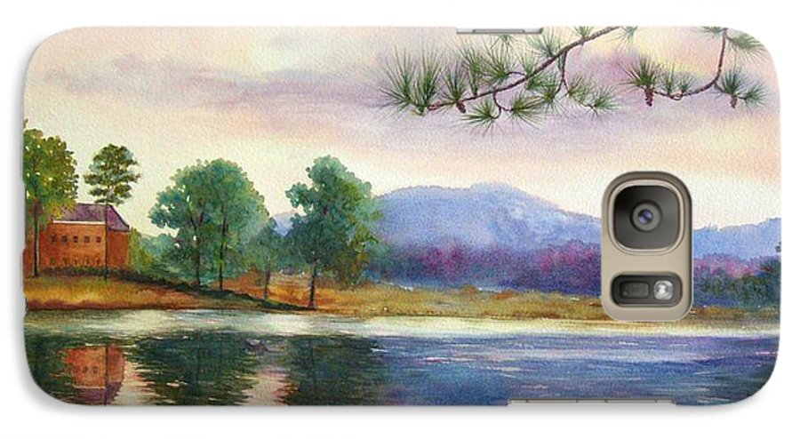 Marietta Galaxy S7 Case featuring the painting Kennesaw Mt. by Ann Cockerill