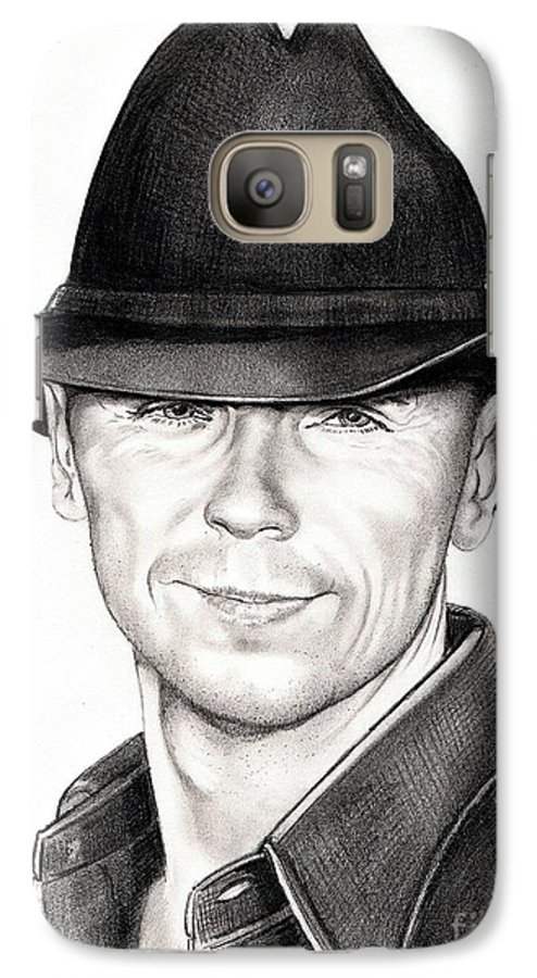 Portrait Galaxy S7 Case featuring the drawing Kenny Chesney by Murphy Elliott