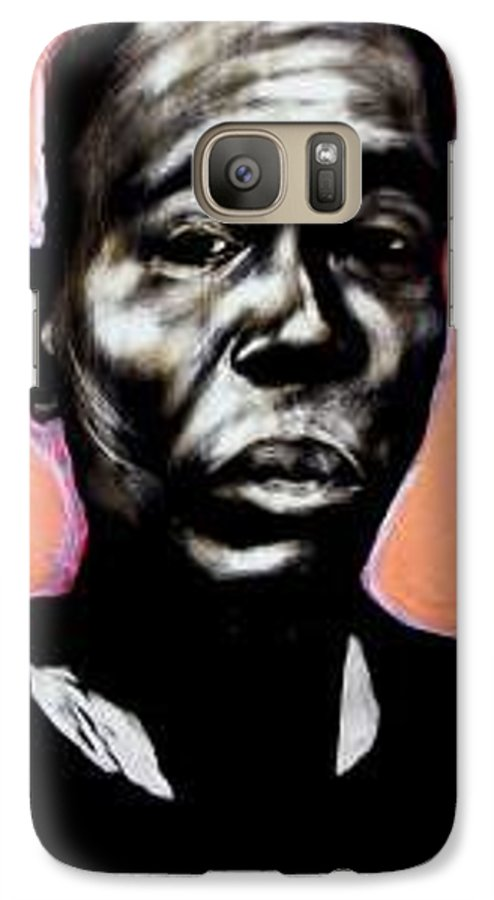Portrait Galaxy S7 Case featuring the mixed media Kewam by Chester Elmore