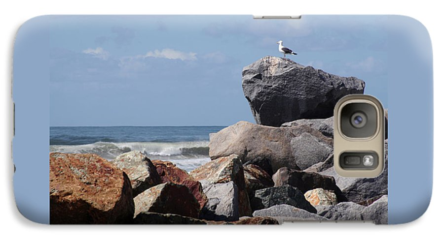 Beach Galaxy S7 Case featuring the photograph King Of The Rocks by Margie Wildblood