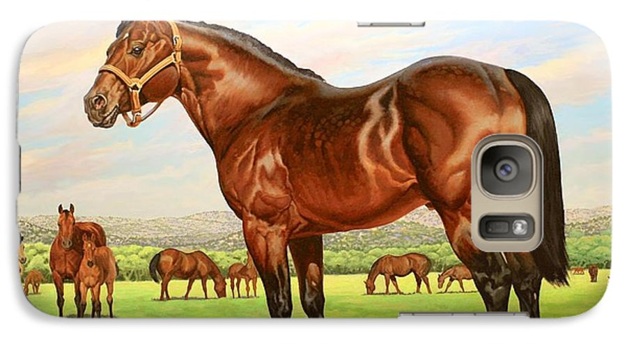 Quarter Horse Galaxy S7 Case featuring the painting King P-234 No.two by Howard Dubois