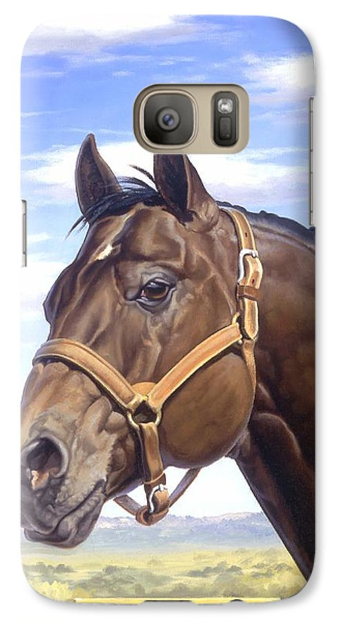 Quarter Horse Galaxy S7 Case featuring the painting King P234 by Howard Dubois