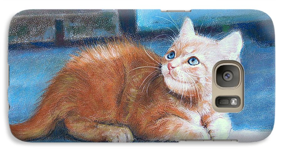 Cats Galaxy S7 Case featuring the pastel Kitten by Iliyan Bozhanov