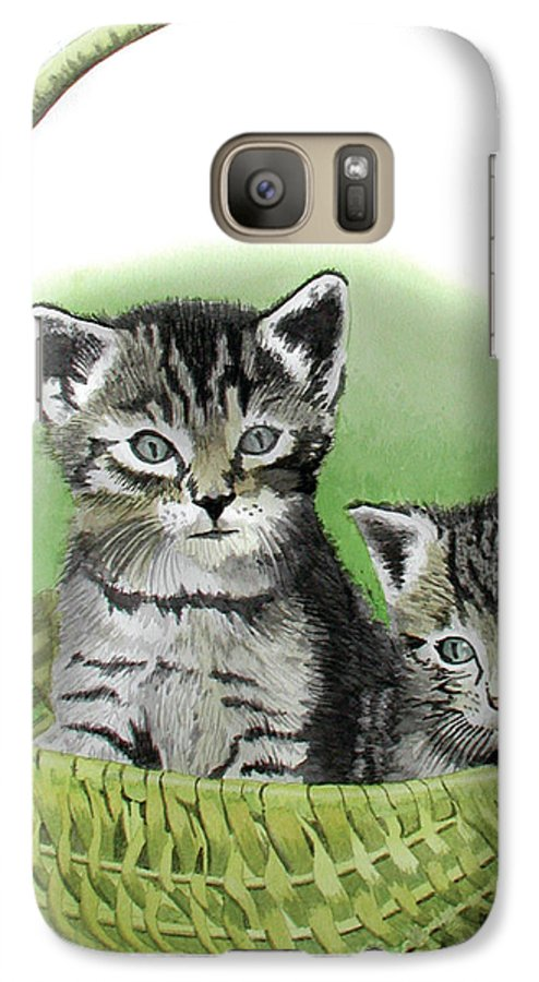 Cat Galaxy S7 Case featuring the painting Kitty Caddy by Ferrel Cordle