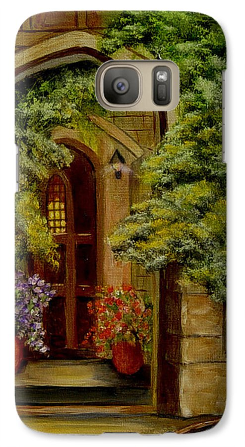 Door Galaxy S7 Case featuring the painting Knight's Door by Quwatha Valentine