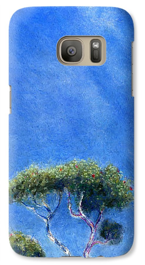 Rainbow Colors Pastel Galaxy S7 Case featuring the painting Kokee Trees by Kenneth Grzesik
