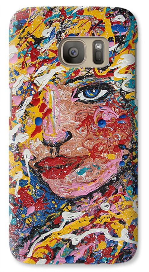 Woman Galaxy S7 Case featuring the painting Kuziana by Natalie Holland