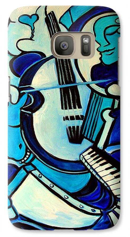 Abstract Galaxy S7 Case featuring the painting L Amour Ou Quoi by Valerie Vescovi