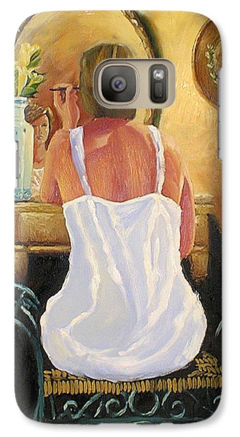 People Galaxy S7 Case featuring the painting La Coqueta by Arturo Vilmenay