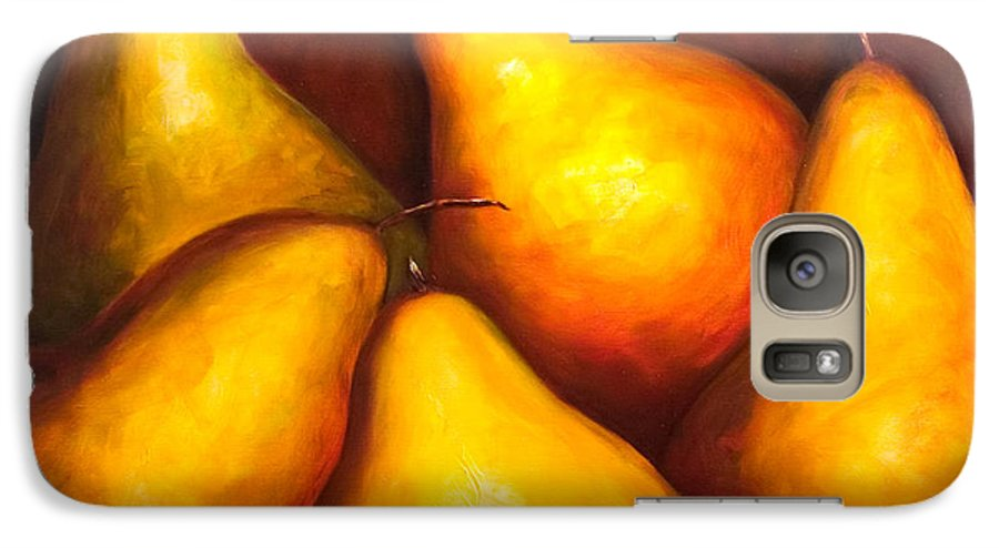 Still Life Yellow Galaxy S7 Case featuring the painting La Familia by Shannon Grissom