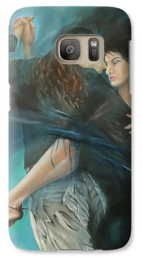 Tango Galaxy S7 Case featuring the painting La Mujer Argentina by Harri Spietz
