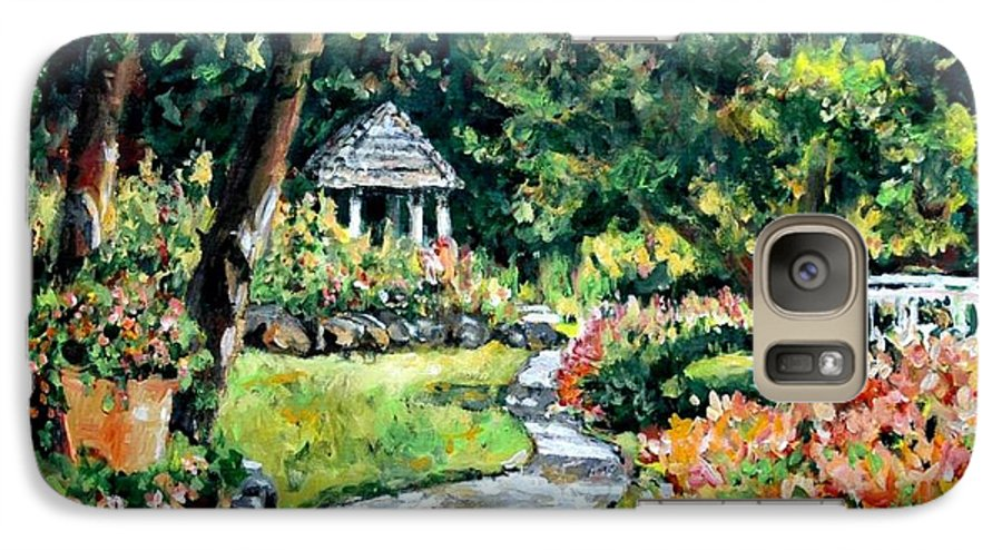 Landscape Galaxy S7 Case featuring the painting La Paloma Gardens by Alexandra Maria Ethlyn Cheshire