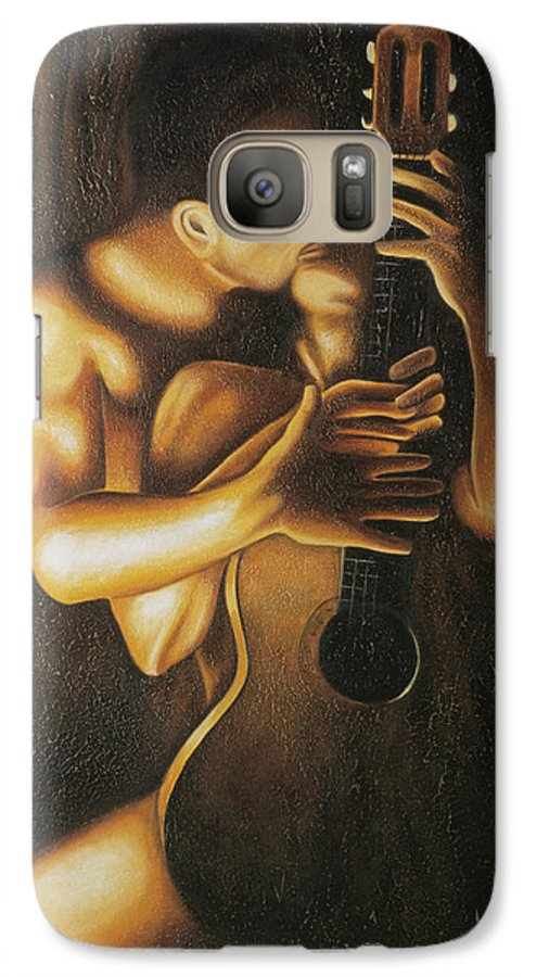 Acrylic Galaxy S7 Case featuring the painting La Serenata by Arturo Vilmenay