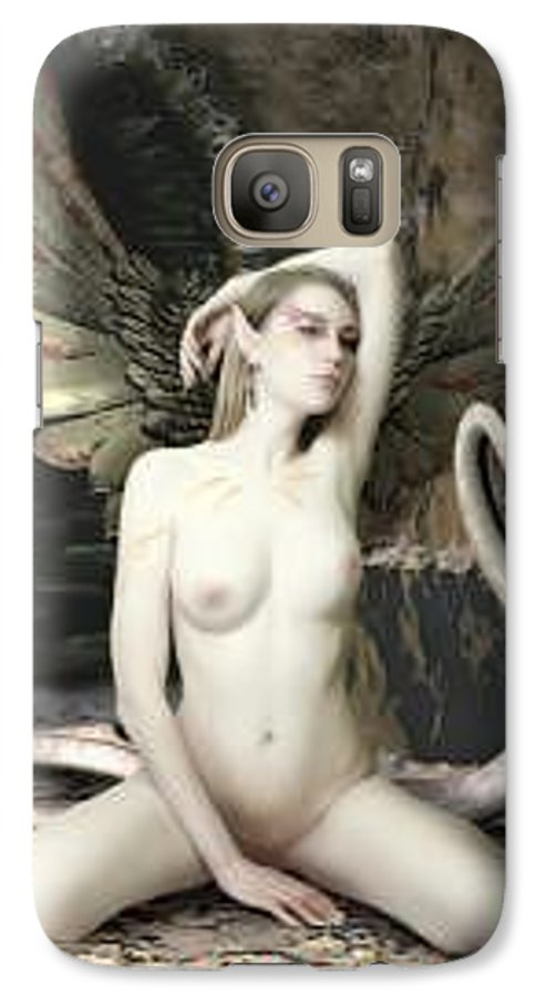 Fairy Galaxy S7 Case featuring the painting Labyrinth by Michel Savage