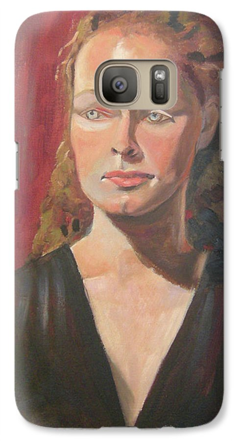 Portrait Galaxy S7 Case featuring the painting Lady Ann by Lilibeth Andre