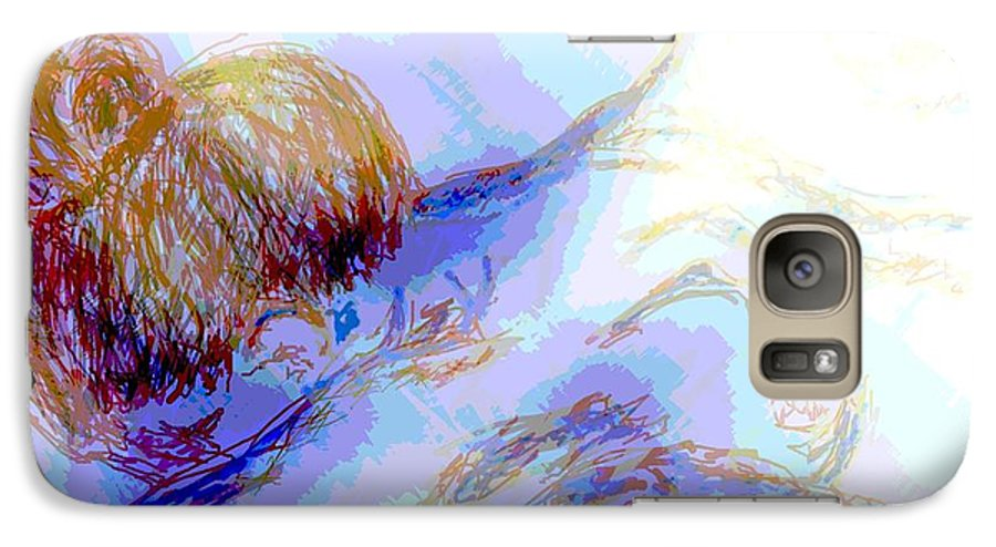 Lady Galaxy S7 Case featuring the digital art Lady Crying by Shelley Jones