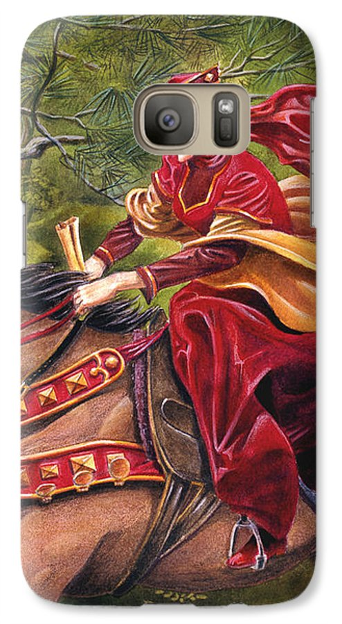 Camelot Galaxy S7 Case featuring the painting Lady Lunete by Melissa A Benson