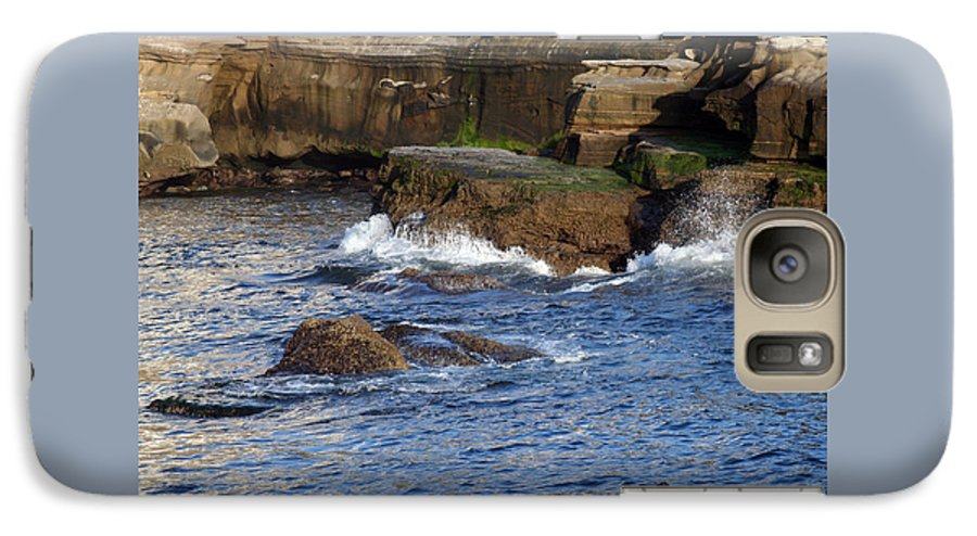 Ocean Galaxy S7 Case featuring the photograph Lajolla Rocks by Margie Wildblood