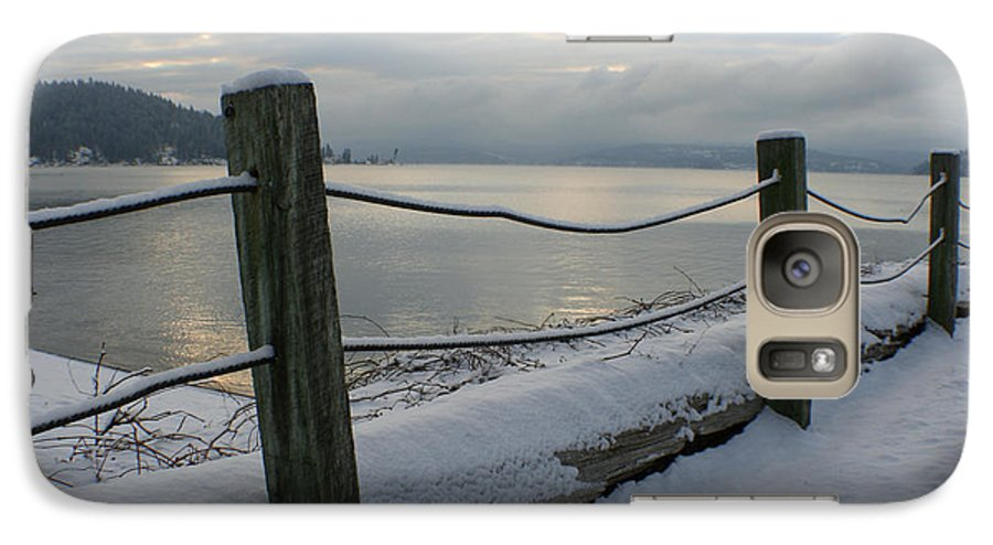 Fence Galaxy S7 Case featuring the photograph Lake Snow by Idaho Scenic Images Linda Lantzy