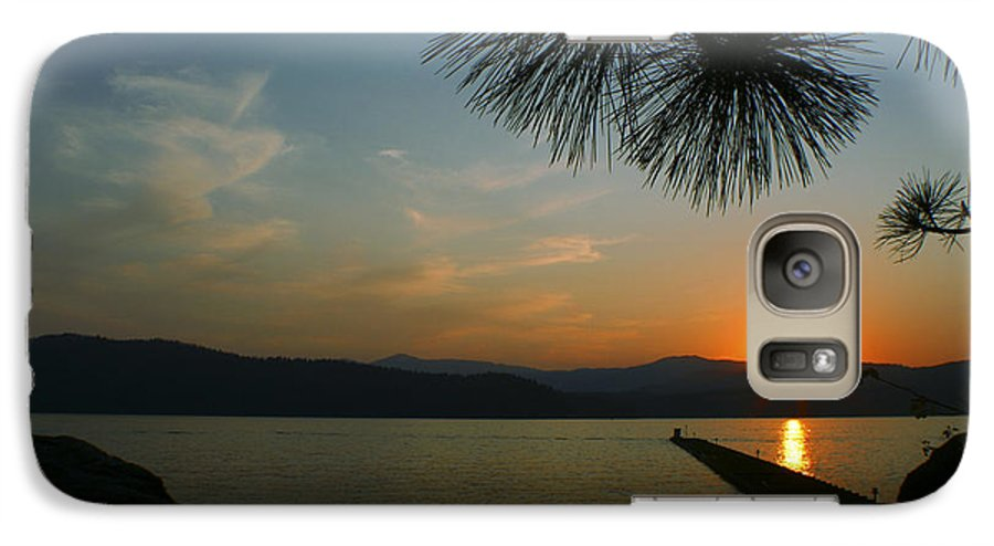 Sunset Galaxy S7 Case featuring the photograph Lake Sunset by Idaho Scenic Images Linda Lantzy