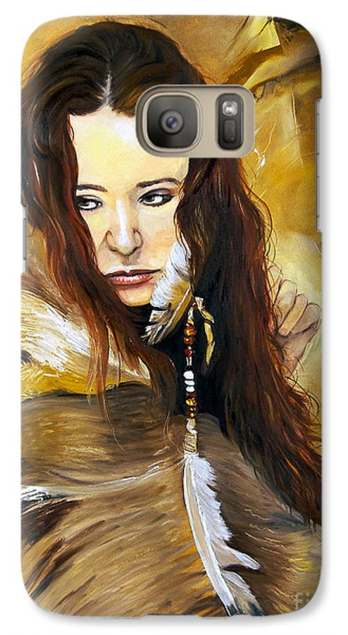 Southwest Art Galaxy S7 Case featuring the painting Lament by J W Baker