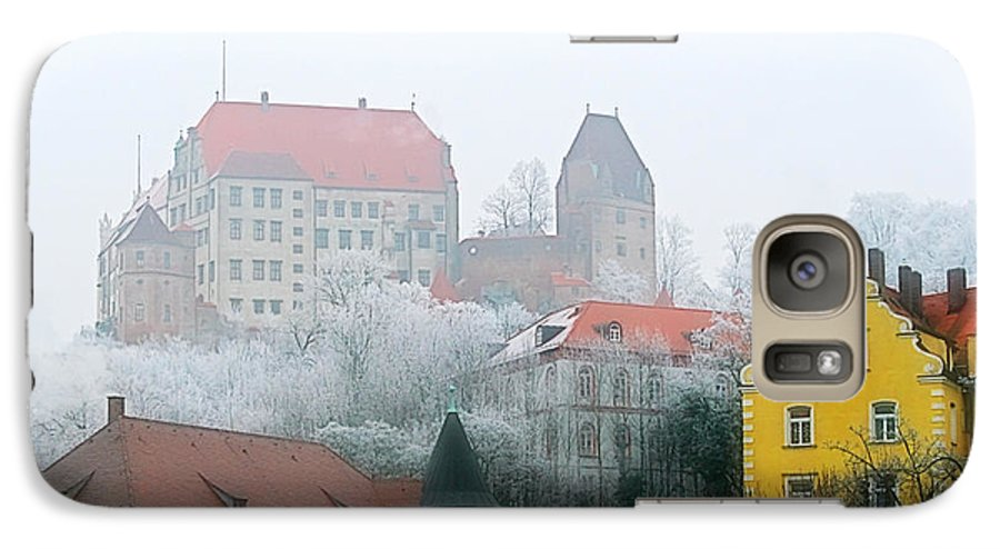 City Galaxy S7 Case featuring the photograph Landshut Bavaria On A Foggy Day by Christine Till
