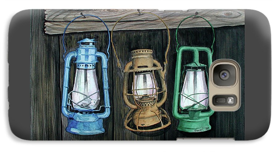 Lanterns Galaxy S7 Case featuring the painting Lanterns by Ferrel Cordle