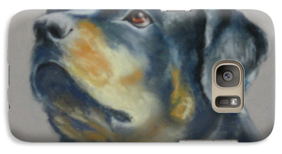 Dog Galaxy S7 Case featuring the painting Lars by Carol Mueller
