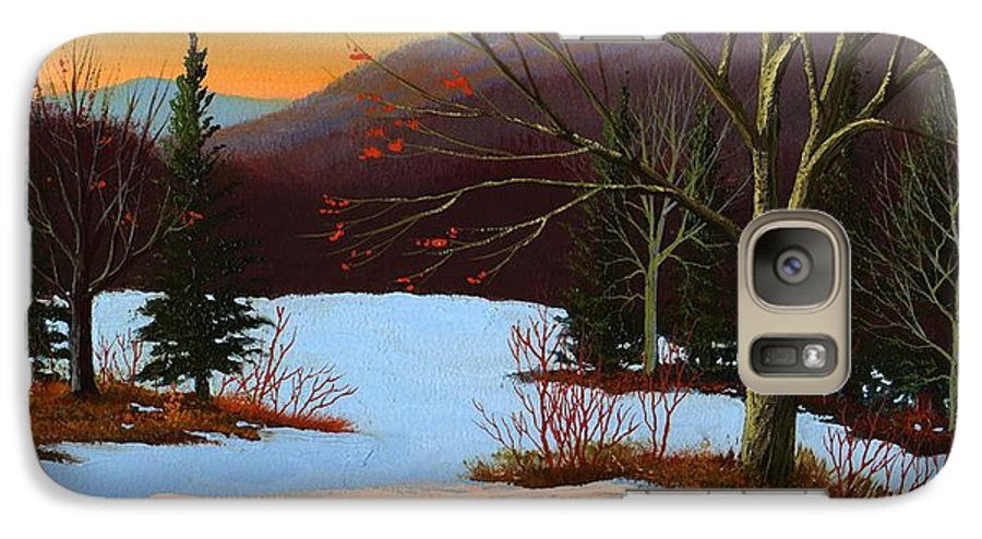 Winter Galaxy S7 Case featuring the painting Last Light Of Day by Frank Wilson