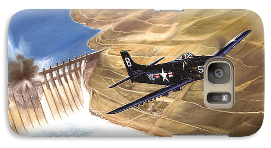 Military Galaxy S7 Case featuring the painting Last Of The Dambusters by Marc Stewart